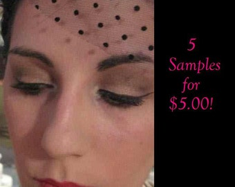5 Eyeshadow Samples