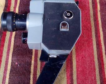Vintage Soviet Camera QUARTZ 2 x 8S-3 - Old Russian Camera Meteor 8M-1 -Retro Movie Camera - Made in USSR - Home Decor - Gift idea