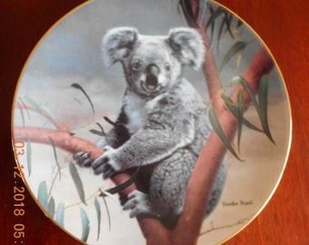 The Koala by Charles Fracé, Vintage Collector Plate, 1990