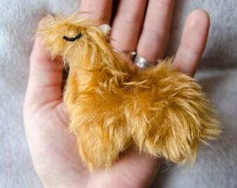 Proud Llama Rattle Cat Toy -  cat gift, best cat toy, unique cat toys, ooak, handmade