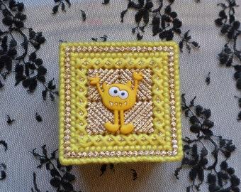 Yellow Monster Trinket Box