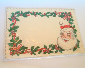 Retro Santa Christmas Place Mats, 15 Place Mats NOS, Made by TIF, Vintage