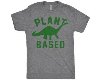Plant Based Tee Shirt, Vegan Shirt, Veganism, Vegetarian Tops, Brontosaurus, Dinosaur TShirt, Apatosaurus, Herbivore T-Shirt, Animal Rights