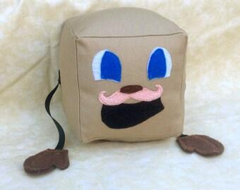 "Tiny Box Tim Plushie! Plush Toy. 5"" cube. Markiplier Youtuber."