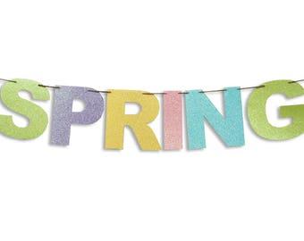 SPRING banner, Spring garland, Spring decoration