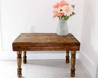 Antique Repurposed Printers Tray Side Table