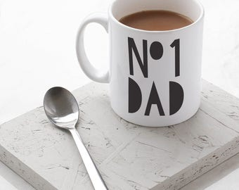 Number One Dad Mug - Stylish Ceramic Mug for Dad - Father's Day Gift
