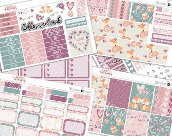 Foxy: planner stickers, erin condren, eclp, weekly kit, sew much crafting, 1407 planners, annie plans prinables