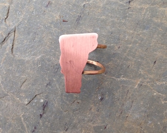 I Love Vermont Copper Adjustable Ring