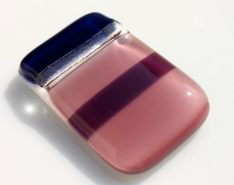 Fused Glass Pendant in Shades of Purple and Blue