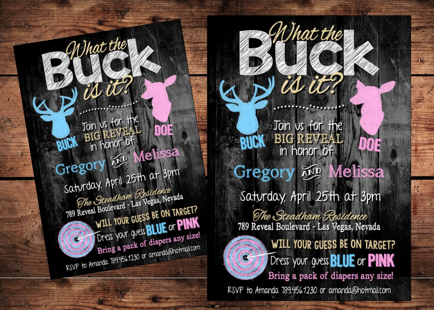 The Original What the Buck Is it Gender Reveal Invitation
