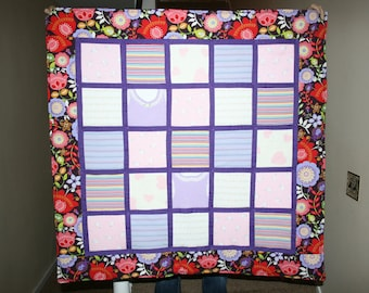 baby clothes quilt (25 items)