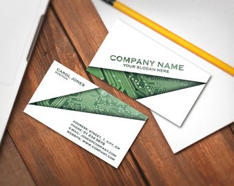 Editable Business Card Template, Premade Printable Business Card Design, Custom Business Card, Digital Download (Carol collection 03)