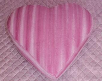 Pink Faux fur heart shaped ottoman