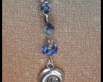 Intuition Gemstone Talisman -  ocean energy shell turtle sodalite sea life harmony balance totem nature lover gift crystal gem stone