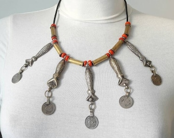 AFGHAN necklace with pretty pendants