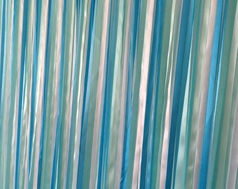 Ribbon Backdrop, Nautical Wedding Backdrop, Beach wedding backdrop, Wedding ribbon backdrop, ribbon curtain, bridal shower backdrop