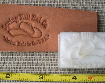 """Leather Embossing Dies - up to 1.5"""" - Custom Leather Stamp"""