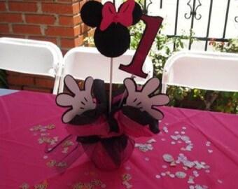 Mouse centerpiece / Birthday centerpiece girl, baby shower