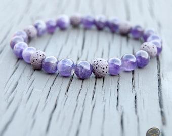 Lava Stone Bracelet • Aromatherapy •  Oil Diffuser Stone • Aromatherapy Bracelet • Essential Oil Bracelet • Healing Bracelet