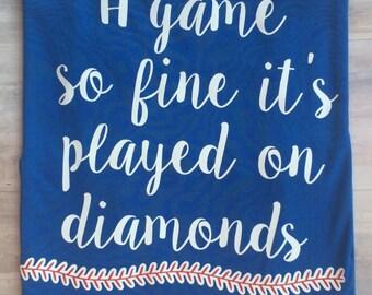 Baseball Tank, Softball Tank, Ladies Baseball Tank, Girls Baseball Tank, Baseball TShirt, Softball TShirt, Baseball Racerback Tank
