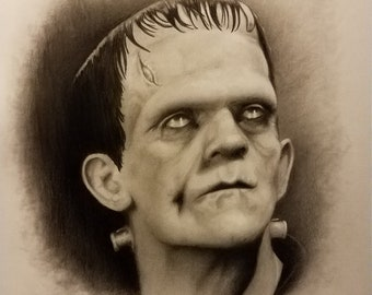 Frankenstein art drawing