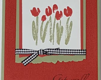 Get Well Greeting Card Handcrafted with Stampin' Up stamps