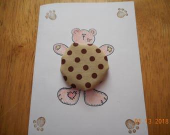 GET WELL Card, Bear with yo yo tummy, Bear Hug Card,handmade cards