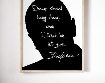 "Big Sean ""Dreams Stopped"" Art Print"