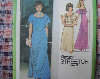 vintage 1970s Simplicity sewing pattern 8419 misses pullover dress size 8 10 12