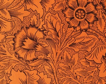 Kaffe Fassett Stencil Carnation gold orange Westminster Rowan Fabrics Fat Quarter yard or more OOP Rare
