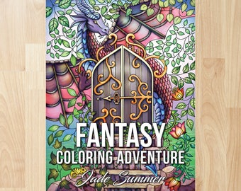 Fantasy Coloring Adventure By Jade Summer Books Pages Adult