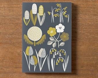 Spring Season Pocket Notebook, Recycled Plain A5 Notebook