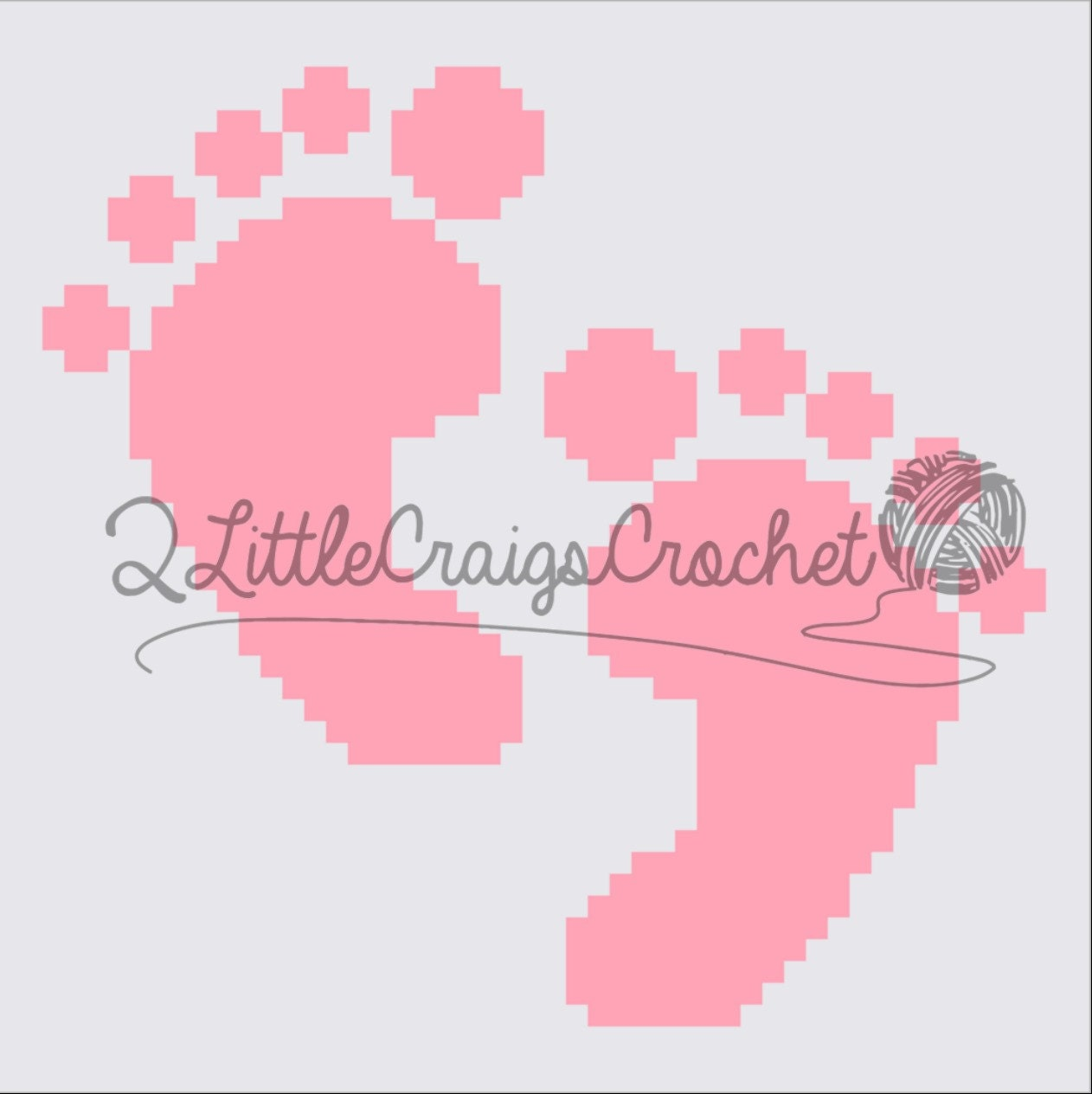 INSTANT DOWNLOAD - Baby Feet - Baby Blanket - Crochet Graph ...