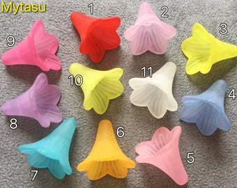 30 pcs mixed color Lucite Flower,22 mm frost style,colorful Lucite flower,transparent flower,mixed lucite flower,Lucite flower,flower kit