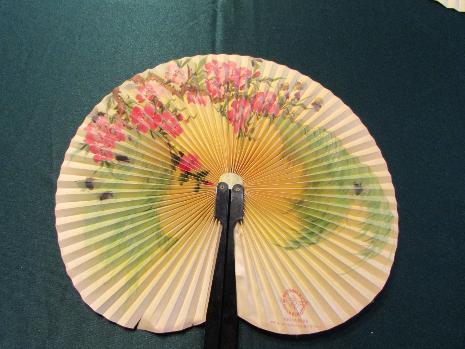 Vintage Folding Hand Fan Made in the People\'s Republic of