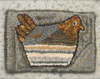 Sunday Dinner Rug Hooking Patter - PDF from Notforgotten Farm™