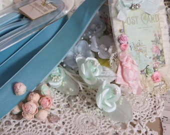 Vintage Millinery Ribbon-Germany-Trim-Sewing-Dolls-Clothing-Scrapbooking-Embellishment-Card Making-Velvet-7/8 inch-BTY