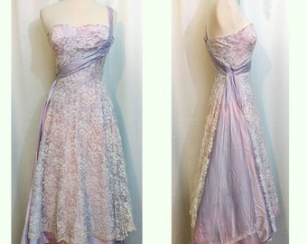 Pink and Purple Lace Galaxy Princess Dress with Star Shaped Sequins