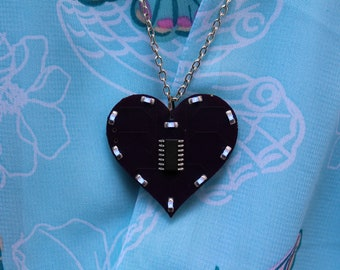 LED Light-Up Heart Necklace