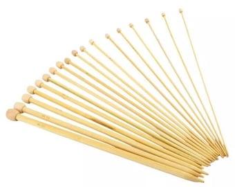 2 pairs straight knitting needles and circular bamboo 5mm