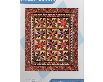 Pattern, Garden Pinwheels By Prairie Sky Quilting, Fat Quarter Friendly, For 5 Sizes Quilts