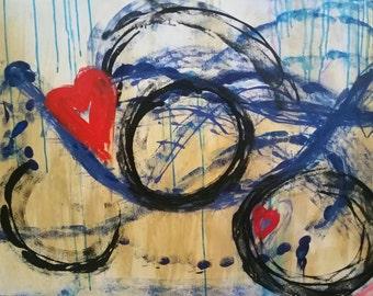 Large acrylic painting, abstract art,modern art, home decor, wall art