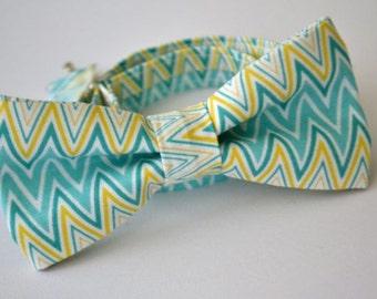 Bow Tie, Chevron Bow Tie, Mens Bow Tie, Groomsmen Bow Tie, Wedding Bow Tie, Easter Bow Tie