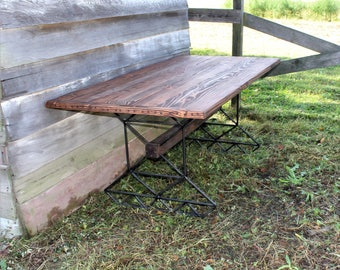 Industrial Table - Dining Room Furniture - Steampunk Decor - Wood and Metal Tables - Steel Legs