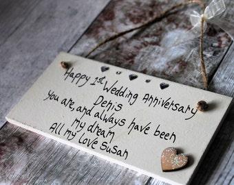 1st Anniversary Gift - Personalized 1st anniversary gift - Personalised 1st Anniversary gift for him - 1st wedding anniversary