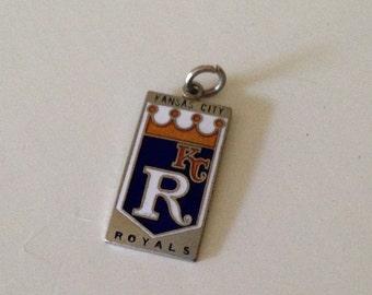 Vintage Kansas City Royals silver plate pennant charm