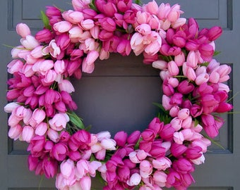 Pink Tulip Wreath
