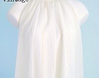 Vintage 80s White Goldie Trapeze Dress