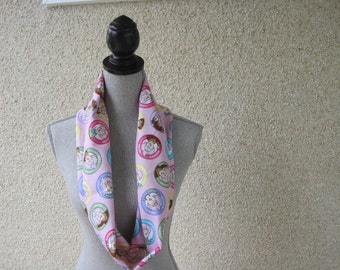 Fabric scarf, Infinity scarf, tube scarf, eternity scarf, loop scarf, Aunty Acid, Sarcasm, Aunty Acid scarf, Cotton scarf